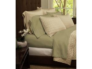 4-Piece Set: Super-Soft 1800 Series Bamboo Fiber Sheets - Olive