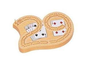 Mini 29 Cribbage Board Game, One Color
