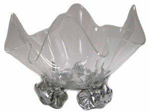 Arthur Court Elephant Stand 14-Inch Acrylic Bowl