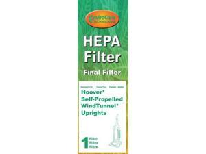 Final Filter for Hoover Windtunnel Pleated HEPA w/activated Charcoal Vacuum Filter, Upright, Self propelled Vacuum Clean