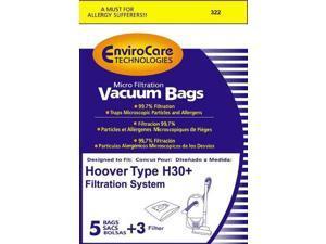 1 X Hoover 5 Pack Generic H30 Vacuum Bags
