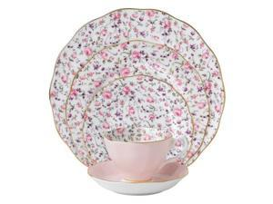 Royal Albert New Country Roses Rose Confetti Vintage Formal Place Setting, 5-Piece