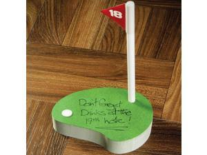 Golfers 200 Page Putting Green Shaped Sticky Notepad with 18th Hole Pen