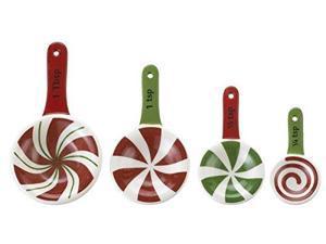Ganz Ceramic Measuring Spoons 4-Piece, Candy