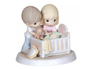 """Precious Moments, Baby Gifts, """"We're Glad You Came Into Our Lives"""", Bisque Porcelain Figurine, Family, #132002"""