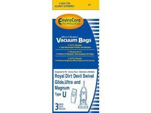 3 Pack Dirt Devil Type U Microfresh Vacuum Bags
