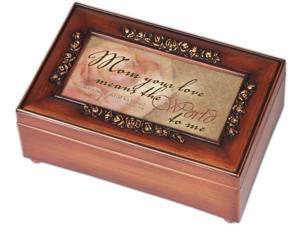 Mom Inspirational Decorative Music Musical Jewelry Box - Plays Amazing Grace