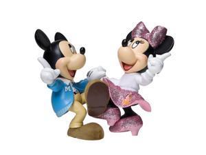 Enesco Disney Showcase Mickey and Minnie Jitterbug Figurine, 4-1/4-Inch