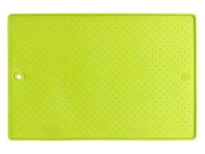 Dexas Popware For Pets Grippmat for Pet Bowls, 13 by 19 inches, Green