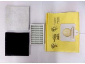 Envirocare Kenmore Mircrofiltration Canister Vacuum Bags - 50558, 5055, 50557 (18 Bags & 1 EF2 & 2 CF1 Filters)