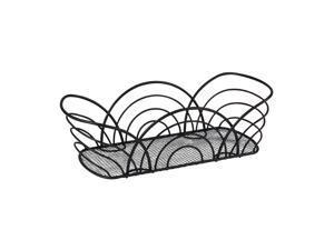 Spectrum Diversified 96810 Twist Flower Bread Basket, Black