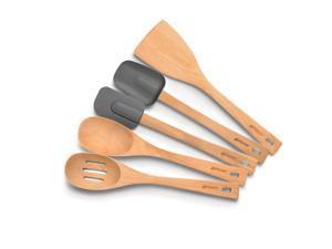 Anolon Advanced Tools Natural Beechwood 5-Piece Tool Set