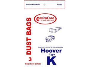 Hoover Type K, Vacuum Cleaner Bags, 3 Pack