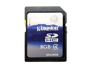 New Original Kingston High Capacity SD Flash 8GB Memory Card 8GB Kingston High Capacity SD Flash Memory Card Card Class: 4  Compatible to SDHC and SDXC host device Read-Write Speed: 4MB/second (min.)