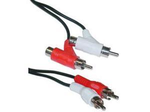 RCA audio piggyback cable, 2 male to male + female piggy back, 6 ft