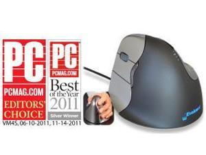 EVOLUENT VM4 VERTICAL MOUSE LEFT HANDED - THE ERGONOMIC PATENTED SHAPE SUPPORTS