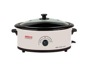 NESCO 4816-14-30 6-Quart Nonstick Roaster Oven (Ivory)