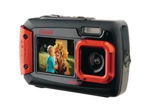 COLEMAN 2V9WP-R 20.0 Megapixel Duo2 Dual-Screen Waterproof Digital Camera (Red)
