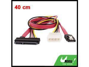 40cm Extension SATA 7+15 Pin to 4 Pin IDE + 7 Pin SATA Data Power Cable