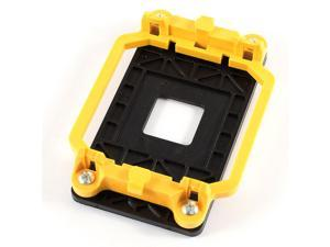 Black Yellow AMD CPU Cooling Fan Heatsink Bracket Holder Base for AM2 940 Socket
