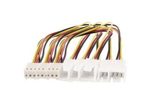 3 Pcs 3 Pin Female to Dual Male PC Cooling Fan Y Splitter Extension Cable 20cm
