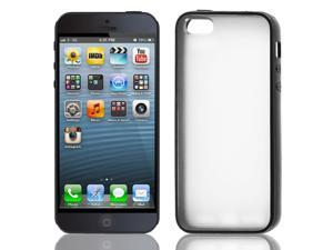 Black Clear Hard Plastic Matte Case Cover Protector for iPhone 5S