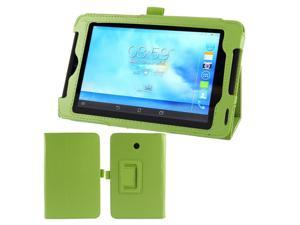 Green Faux Leather Flip Folio Stand Case Cover for ASUS FonePad 7 ME372CG