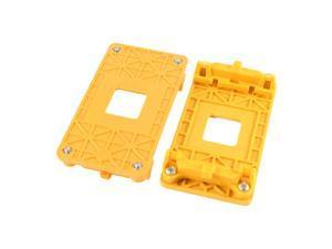 2 Pcs AMD AM2 940 Socket Mainboard CPU Fan Heatsink Bracket Holder Base Yellow