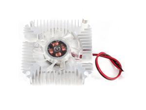 45mm 2 Pin VGA Video Graphics Card Heatsink Cooler Cooling Fan Silver Tone