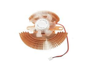 Copper Tone Clear 12VDC 2Pin Computer VGA Video Card Heatsink Cooling Fan Cooler
