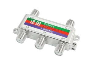 5-900MHz 1 In 4 Out TV CATV Audio 4 Channel Cable Coaxial Splitter