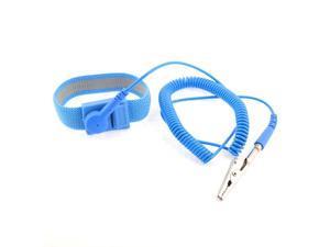Alligator Clip Elastic Band Coiled Cord ESD Anti Static PU Wrist Strap