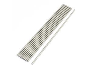 10Pcs Stainless Steel 200mm x 3mm Round Rod Stock for RC Airplane Model