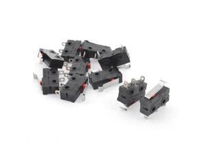 5A 125 250VAC Short Hinge Lever Actuator SPDT Micro Switch 10 Pcs