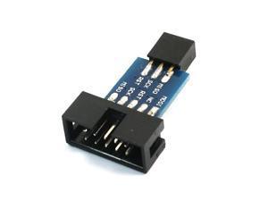 Black Blue AVRISP USBASP STK500 10pin to 6pin Converting Board
