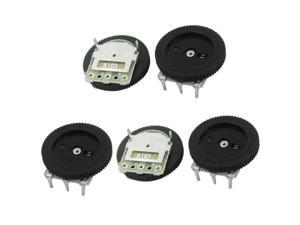 5Pcs 16mmx2mm 10K ohm Stereo Radio Volume Control Wheel Potentiometer B103
