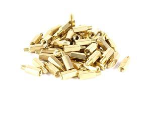 50 Pcs PC PCB Motherboard Brass Standoff Hexagonal Spacer M3 10+4mm