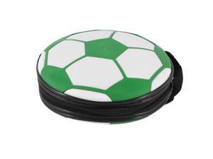 Blue White Football Pattern Zippered 24 Capacity DVD CD Holder Bag Case