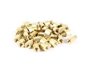 30 Pcs PC PCB Motherboard Brass Standoff Hexagonal Spacer M3 5+4mm