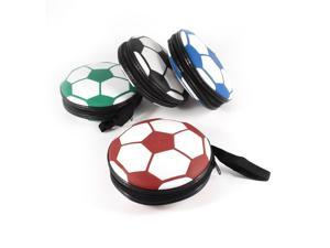 4pcs White Blue Football Design 24 Capacity CD DVD Holder Storage Bag Case