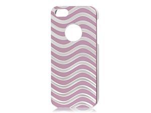 Water Wave Design Pink Aluminium Alloy Coated Hard Back Case for iPhone 5 5G 5th