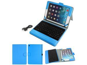 Wireless bluetooth Keyboard PU Leather Stand Case Cover Sky Blue for iPad 2 3 4
