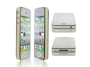 Glitter Pale Yellow Vinyl Edge Wrap Decal Skin Sticker for iPhone 4 4G 4S 4GS
