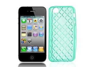 Water Cube Textured Soft Plastic Case Cover Clear Blue for iPhone 5 5G 5th