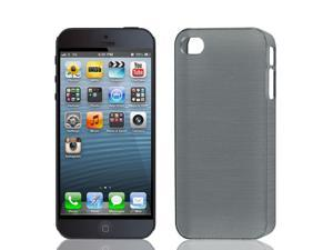 Anti Slip Guard Shell Back Case Cover Gray for Apple iPhone 5 5S 5G 5GS 5th