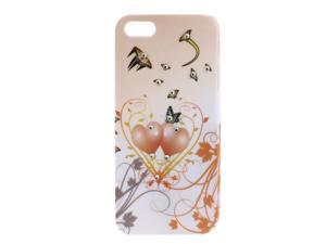 Butterfly Pattern Hard Back Protector Case Cover Pale Pink for iPhone 5 5th