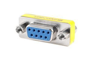 RS-232 DB9 Female to Female Mini Gender Charger Coupler Cable Adapter