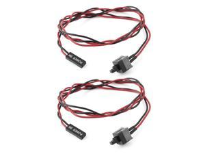 2 pcs ATX Computer Case Power Supply Reset Switch Cable Cord