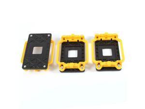 3 Pcs Black Yellow AMD CPU Fan Heatsink Bracket Holder Base for AM2 940 Socket