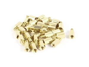 30 Pcs PC PCB Motherboard Brass Standoff Hexagonal Spacer M3 7+4mm